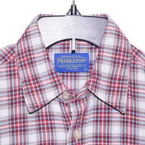 Pendleton Small Blue Red White Checks Long Sleeve